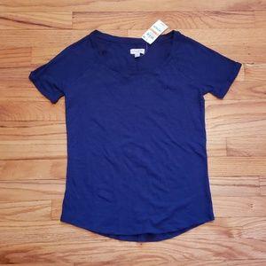 Maison Jules - Blue Short Sleeve Cotton Tee Small